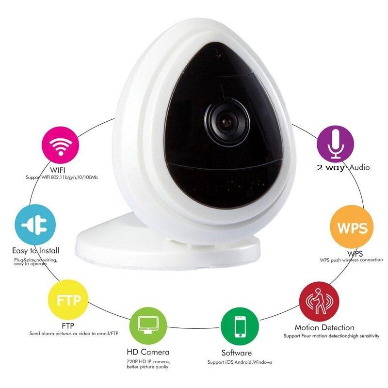 Cute wifi camera monitors IR Night vision Intercom Motion Detection Alarm 720P ip camera wifi baby monitors Support Android iOS<br>