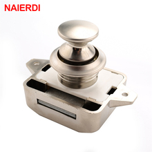 10PCS NAIERDI Camper Car Push Lock 26mm RV Caravan Boat Motor Home Cabinet Drawer Latch Button Locks For Furniture Hardware