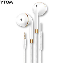 New earphone for apple iPhone 6 5 Samsung Xiaomi With Microphone 3.5mm Jack Bass in Ear fone de ouvido Headset earpods earpiece(China)