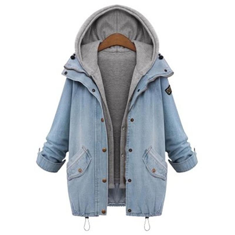 معطف جينز قطعتين دافئ وعصري 1