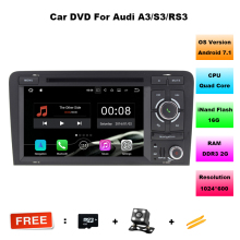 Quad Core Android 7.1 car radio gps with BT Ipod list gps Canbus 3G Wifi AutoRadio SWC for Audi A3 Car dvd player gps Free maps