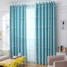 New Design Home Textile Window Curtains Pastoral Style Blackout Curtains Livingroom Bedroom Curtains 1 Piece