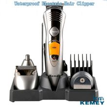7 in 1 Waterproof Electric Hair Clipper Kemei Professional Hair Trimmer Shaver Beard For Men Waterproof Family Haircut Tool(China)