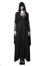 Steampunk Knitting Jacquard Vintage Dress Gothic Long Hooded Dress Women's High Priestess Witch Dresses(China)