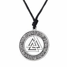 Buy Lemegeton Valknut Odin 's Symbol Norse Viking Warrior Amulet Pendant Adjustable Chain Necklaces Men Religious Jewelry for $2.99 in AliExpress store