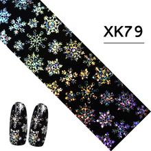 100x4cm Xmas Nail Designs 3d DIY Tips Nail Art Foils Fashion Shinning Glitter Snow Flower Sticker Decals Manicure TRSTZXK79(China)
