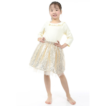 Retail One Set Girls Boutique Clothing Kids Girl Clothes Summer Baby Boutique Clothing Gold Sequins Tutu Skirt Shirt Set