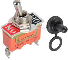 5pcs 15A 250V SPST 2 Terminal ON OFF Toggle Switch with waterproof cap(China)
