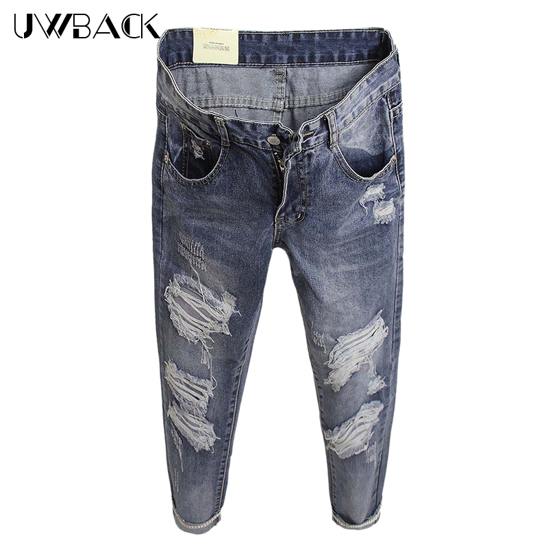 Uwback Boyfriend Jeans For Women 2017 New Brand Summer Ripped Woman Jeans Denim Bleached Embroidery Mujer Jeans Female TB1395Одежда и ак�е��уары<br><br><br>Aliexpress