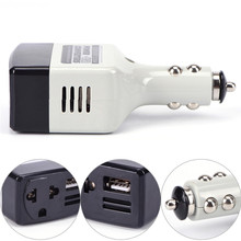 Auto Charger 220V Mobile Charger Power With USB Adapter DC 12V To AC Converter(China)