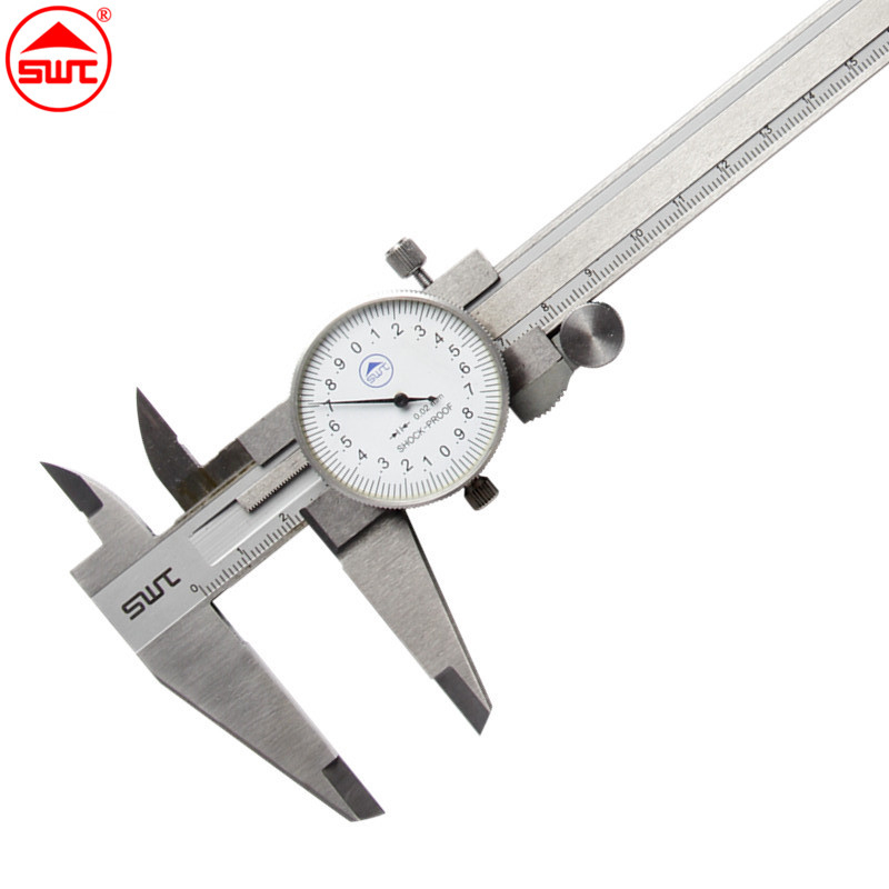Dial Caliper 8 0-200mm/0.02 Stainless Steel Shock-proof Metric Measurement Gauge Vernier Caliper Measuring Tool<br>