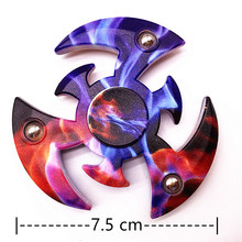 Top Fidget Spinner Metal Tri For Kids Autism Finger Hand Spinner Beyblade Fingertip Spinning Toy Stress Relief Gyroscope K2612