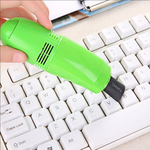 Portable Multifunction Mini PC Keyboard Vacuum Cleaner Laptop Practical Keyboard USB Dust Cleaning Brushes Random Color ZM(China)