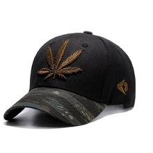High quality Baseball Cap Unisex Sports leisure hats leaf embroidery sport cap for men and women hip hop hats(China)