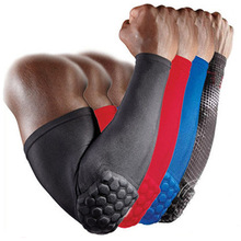 Breathable Sports Elbow Protectors Crashproof Honeycomb Basketball Elbow Pads Support Guards Pads Arm Sleeve Warmers