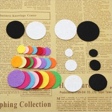 200PCS/LOT 2-3cm Round Felt Shape Colorful Non Woven Fabric Used For Decorative Clothing Accessories DIY Home Wall Stickers