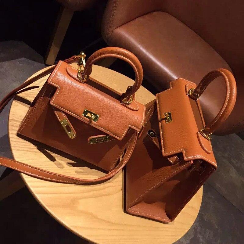 Cecelia High quality PU leather handbag gold lock scarf woman cross body bags famous designer lady handbag bolsas femininas<br><br>Aliexpress