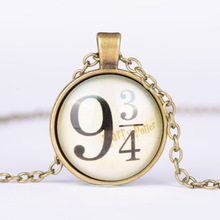 2017 new fashion Potter Harry 9 and 3/4 time precious stones Men Lady alloy Necklace FREE SHIPPING