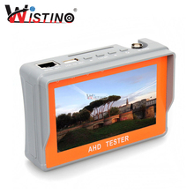 Wistino 4.3 Inch HD AHD TVI CCTV Camera Tester Audio 12V1A 5V2A Monitor UTP Cable Test 1080P 720P Surveillance Tester Output(China)