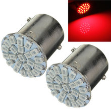 Best Price BA15S P21W 1156 22 LED 1206 SMD Car Auto Tail Side Indicator Lights Parking Lamp Bulb Red White Yellow DC12V