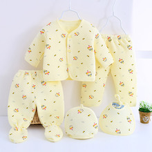 2017 Newborn Baby Clothing Set 5pcs Baby Girl Boy Clothes Fashion Carters Cotton Autumn And Winter Underwear Clothes for 0-3M