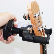 Electric Guitar Wall Hanger Mount Holder Stand Rack Hook Display For All Size BK