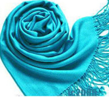 Fashion Women Colorful Fashion Wrap Scarf Long Shawl Soft Scarves Tassels Wool Blend