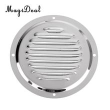 "MagiDeal 127mm/5"" Diameter 316 Stainless Steel Marine Yacht Boat Caravan Engine Louvred Vent Cover Durable Hardware Accessory"
