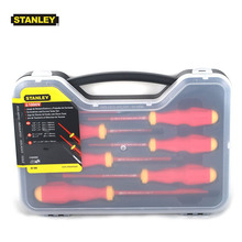 Stanley 65-980 1000v-volt insulated screwdriver set kit red color alloy steel, 7piece(including of tester pen for free)(China)