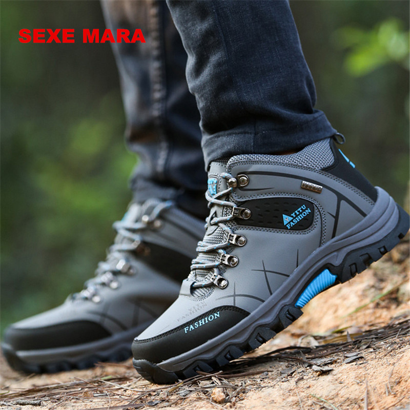 2017 size 39-46 Outdoor Sport Shoes men Sneakers men shoes Running Shoes for men Anti-skid Off-road Jogging Walking Trainers Q60<br>
