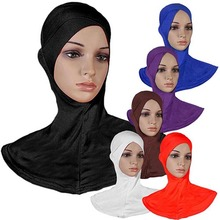 Women Full Cover Inner Cotton Hijab Cap Head Wear Hat Underscarf(China)