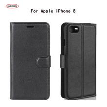 Buy HUDOSSEN Apple iPhone 8 Luxury Flip Case PU Leather Back Cover Cases Coque iPhone 8 Plus Protective Phone Housing Para for $3.84 in AliExpress store