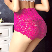 Buy New Sexy Lace Panties Women Lady Floral Lace Panties High Waist Underwear Transparent Comfortable Knickers Briefs Underpants