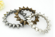 Min. order $9 (mix order) Fashion ccb spike bracelet punk style
