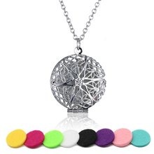 DIY+5Pad Fashion Flower Essential Oil Diffuser Pendant Necklace Living Doterra Aromatherapy Jewelry For Women Girl Gifts