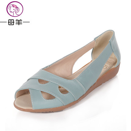 MUYANG Chinese Brand Women Sandals 2017 Summer Shoes Woman Genuine Leather Flat Sandals Women Casual Flats Women Shoes size35-42<br><br>Aliexpress