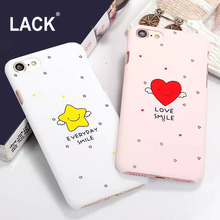 LACK Cute Smile Stars Cartoon Case For iphone 7 Case Fashion Phone Cases Funny Letter Cover For iphone 7 6 6S Plus 5 5s Coque