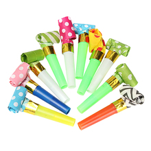 Happy Time 10 pcs/pack New Cute Blowing Dragon Whistle Volume Blow Horn Noise Maker Clown Party Strange Child Baby Toys