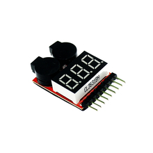 1-8S Lipo/Li-ion/Fe Battery Voltage 2IN1 Tester Low Voltage Buzzer Alarm(China)