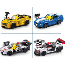 Decool Speed Champions Building Blocks Chevrolet Corvette Z06 Car Mustang Gt R8 R18 Car Model Bricks Compatible With Lego(China)