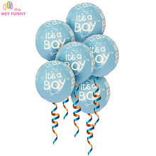 10pcs/lot It is a boy and it's a girl, baby boy latex balloons for Wedding, Birthday, Baby shower Party Decoration(China)