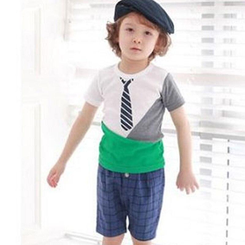 2017 Summer Baby Boy 2 Pcs Clothes Suit Boys Sport Suits Kids Cotton Tie Tops T-Shirts + Casual Pants Childrens Clothing Sets<br><br>Aliexpress