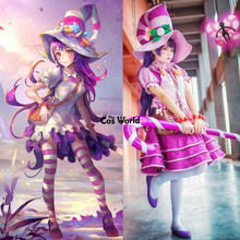 LOL The Candy Sorceress Lulu Maid Apron Dress Uniform Outfit Games Cosplay Costumes