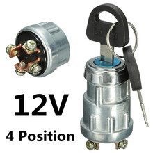 Universal 12V Car Boat Motorcycle Ignition Starter Key Switch Barrel 4 Position With 2 Keys