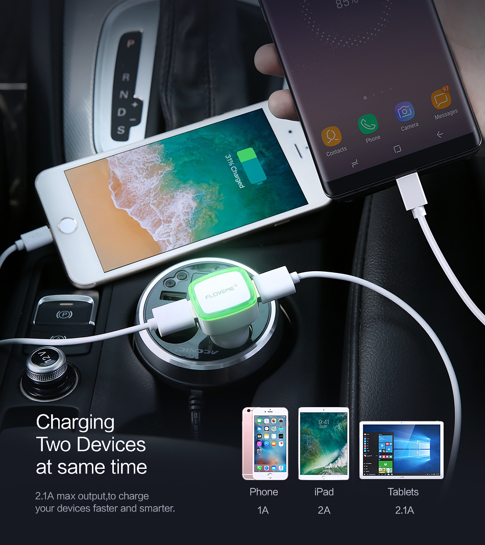 iPhone Car Charger Plug