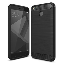 for Xiaomi redmi 4x case 100% original for redmi 4x soft case for redmi4X case silicone 4 color transparent carbon fibre cover