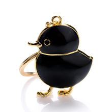 Chaveiro!Creative 3D Cute Chicks Key Chain Holder Bag Keyring Alloy Keyfobs Key Finder Charm Metal Car Purse Keyfobs Gift J062(China)