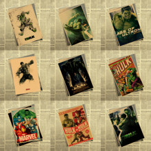 Hulk Movie Poster Marvel Superhero Avengers Bedroom Dormitory Decorative  Painting 30cm*21cm(China)