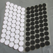 100Pairs black and white Magic Nylon Sticker Double Sided Adhesive Hooks Loops Disks Round Fastener Tape Sewing 100% nylon(China)