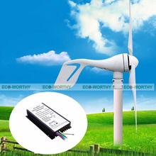 EU AU USA Stock 400w Vertical Brushless Mini Wind Power Generator 12v 600w 1kw 220v with Widn Solar Hybrid Controller(China)